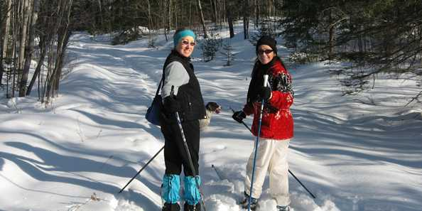Skiing at Catherine Wolter Wilderness Area