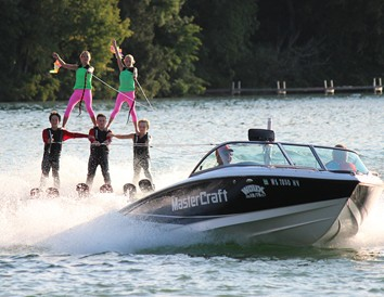 Enjoy a water ski show on the Chain O' Lakes in Waupaca.