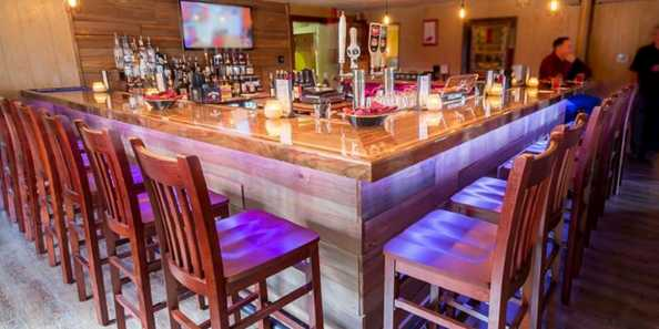 Newly remodeled bar.