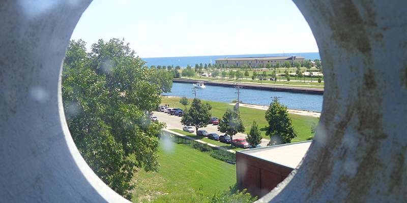 The view from the top of the Southport Lighthouse