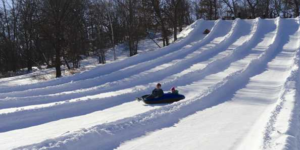 Kids love the Snow Tubing hills!  And adults do too!