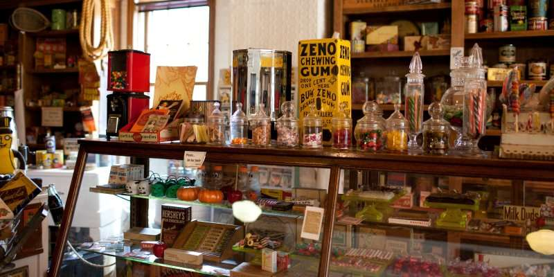 The General Store Museum houses one of the most extensive collections of antique advertising and packaging art.