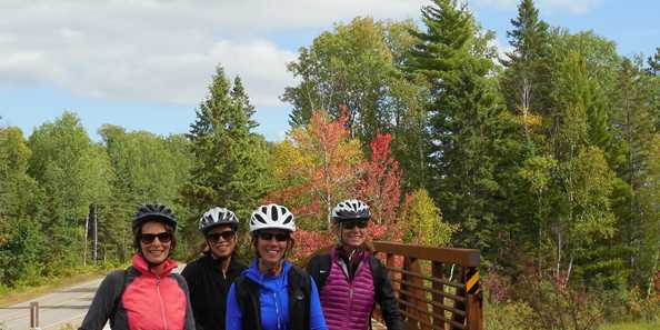 All smiles along the Heart of Vilas County Bike Trail