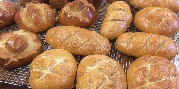 All of our breads (12+ varieties) are made with non-bleached, non-bromated flour. Our Power bread is made with stone-ground wheat right in our bakery! Breads are baked on Fridays, and are available Friday afternoons at the shop and Saturday mornings at the Iron Mountain Farmers Market (June-Sept).