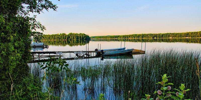Kangaroo Lake, Door County's largest inland lake. Perfect for boating, silent sports and fishing.