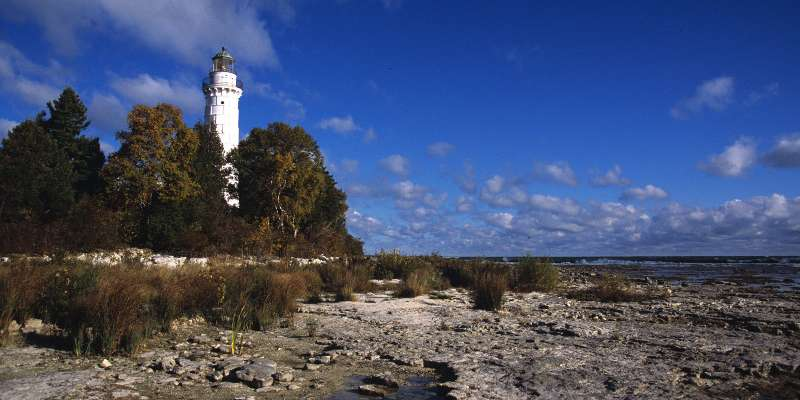 Cana Island Lighthouse one of a number of attractions to see along the trail.