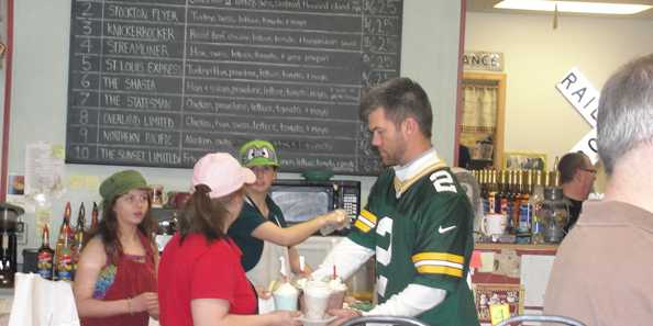 Mason Crosby as a guest employee.