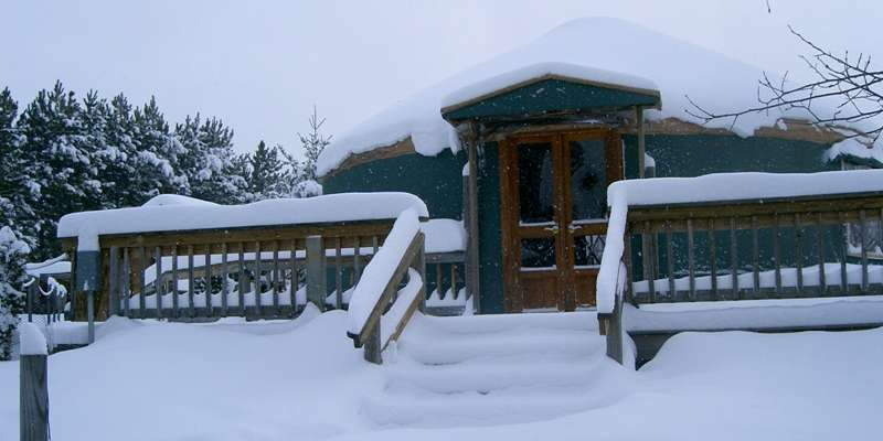 Winter at the Yurt