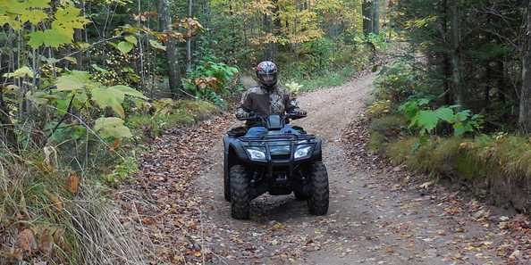 Enjoying the fall colors by ATV in Langlade County: The County of Trails!