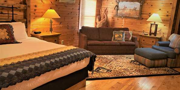 Some of the highest rated accommodations IN THE WORLD, the Kickapoo Valley Ranch Guest cabins are the best. Ever!