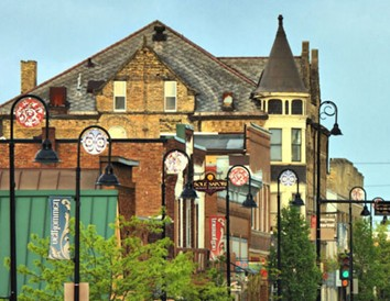 Distinctive shops and restaurants, located in authentic restored buildings and Victorian homes, line Mount Horeb's Main Street.