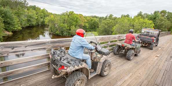 ATV Trail crossing the Namekagon River, part of the St. Croix National Scenic Riverway