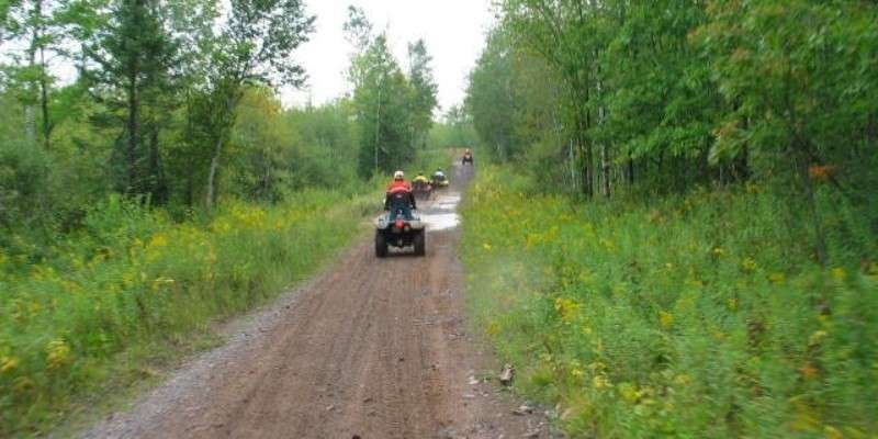 ATV riding on the 70 mile Flambeau Trail System