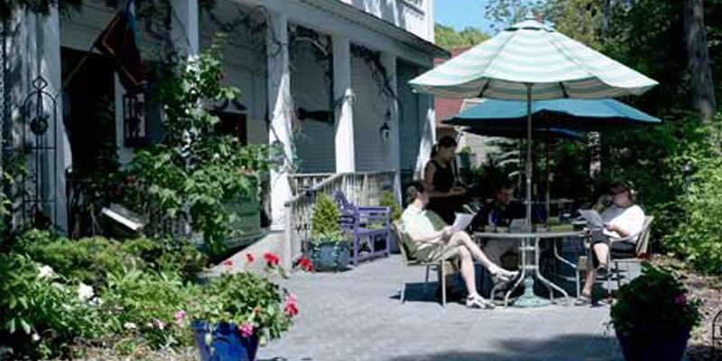 Indoor and outdoor dining are available at the Back Porch Bistro.