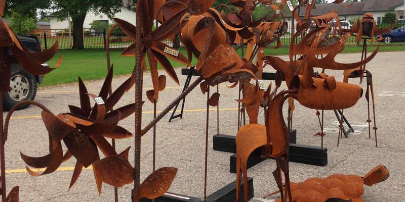 Fabricated Metal Lawn Art