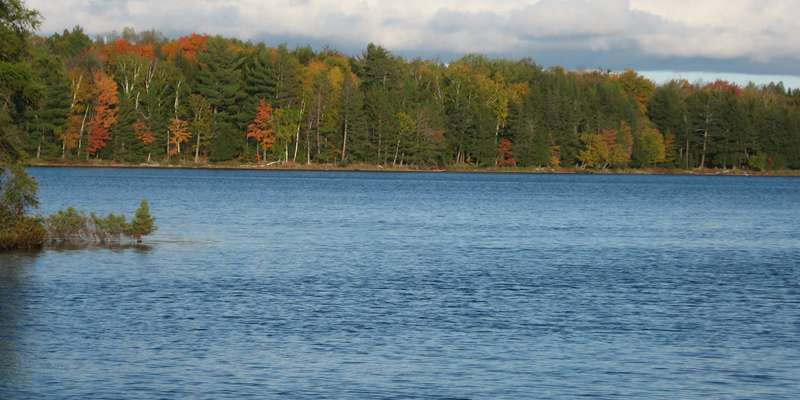The view of Jack Lake in early fall.