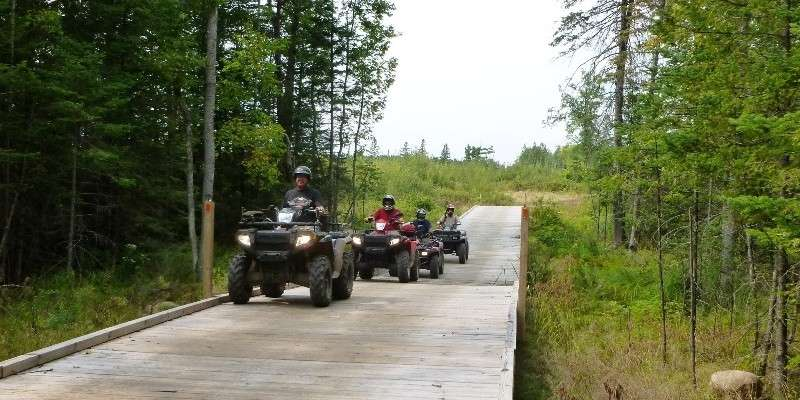 ATV riding on the Solberg Trail System
