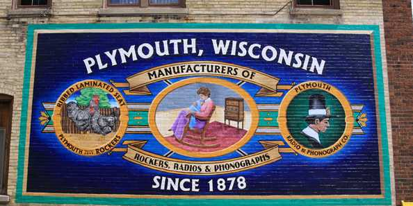 Plymouth, WI Plymouth Rocker & Phonograph Co. Mural