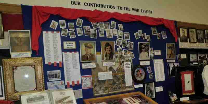 Display of Highland Area War Veterans