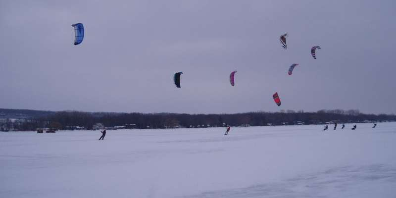 Kitesurfing at Sturgeon Stampede