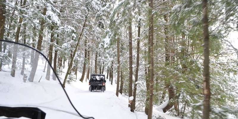 Winter ATV UTVing near Timms Hill  photo Flaming Fotos