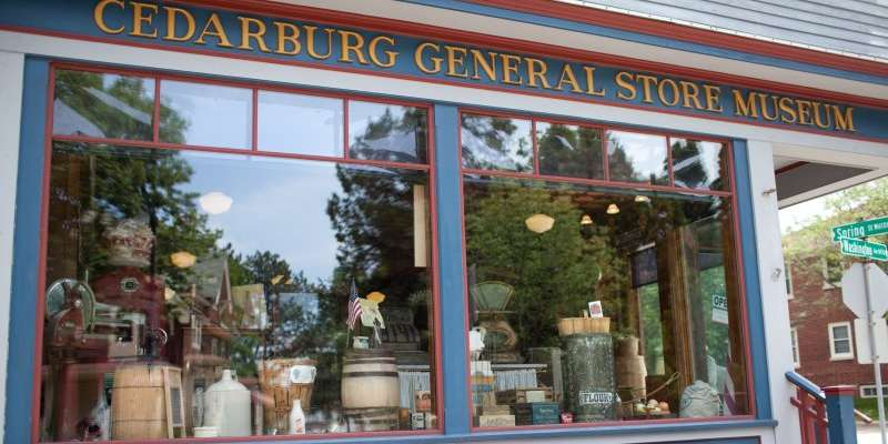The General Store Museum, located on the corner of Washington and Spring in Cedarburg, is home to the Visitor Center and the Chamber of Commerce.