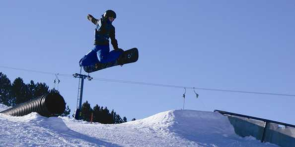 Getting some air on the Terrain Park!