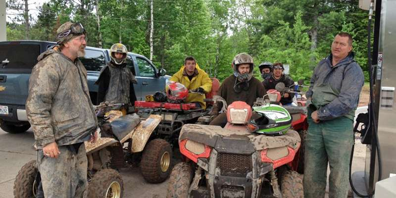On ATV trails