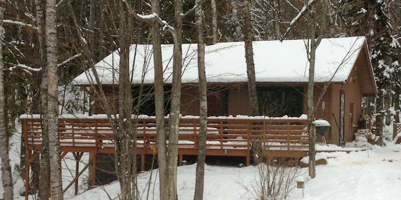 Winter at Hauser's Bayfield Cabin