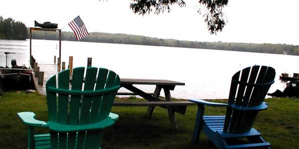 Relax away the afternoon overlooking beautiful Moose Lake