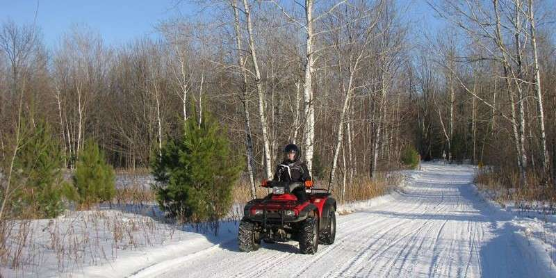 Winter ATVing