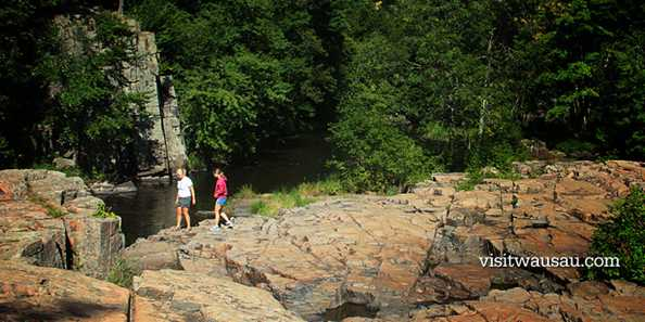 Exploring the Dells of the Eau Claire River County Park.