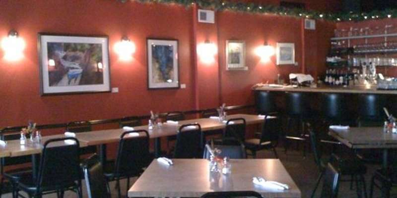 The work of local artists graces the walls of 2nd Street Bistro's inviting interior.