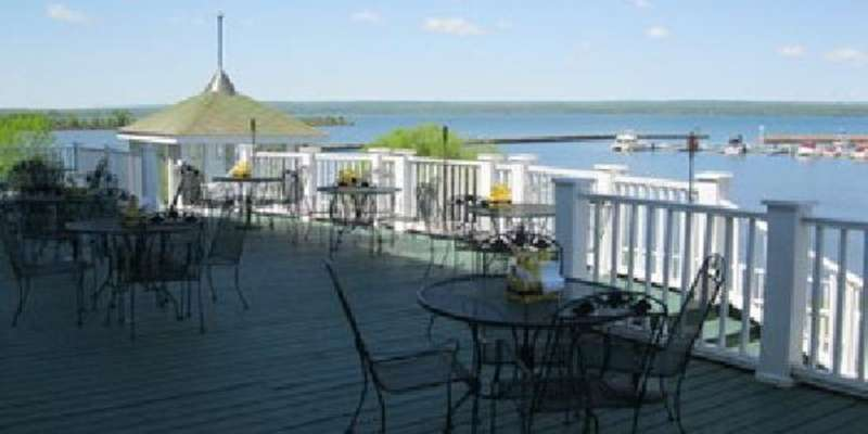 Enjoy your food and drinks with a view of Lake Superior on the deck at Molly Cooper's.