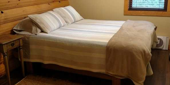 In addition to the queen size beds in each bedroom, we also have two twin floor mattresses.