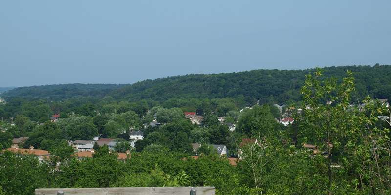 Panoramic view from the top of Hickory Hill Segment of the Trail in Cross Plains