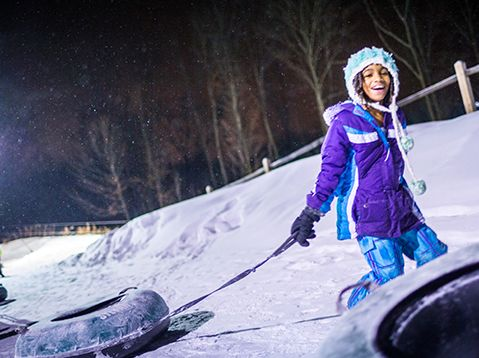 Snowtubing Hills for the Family
